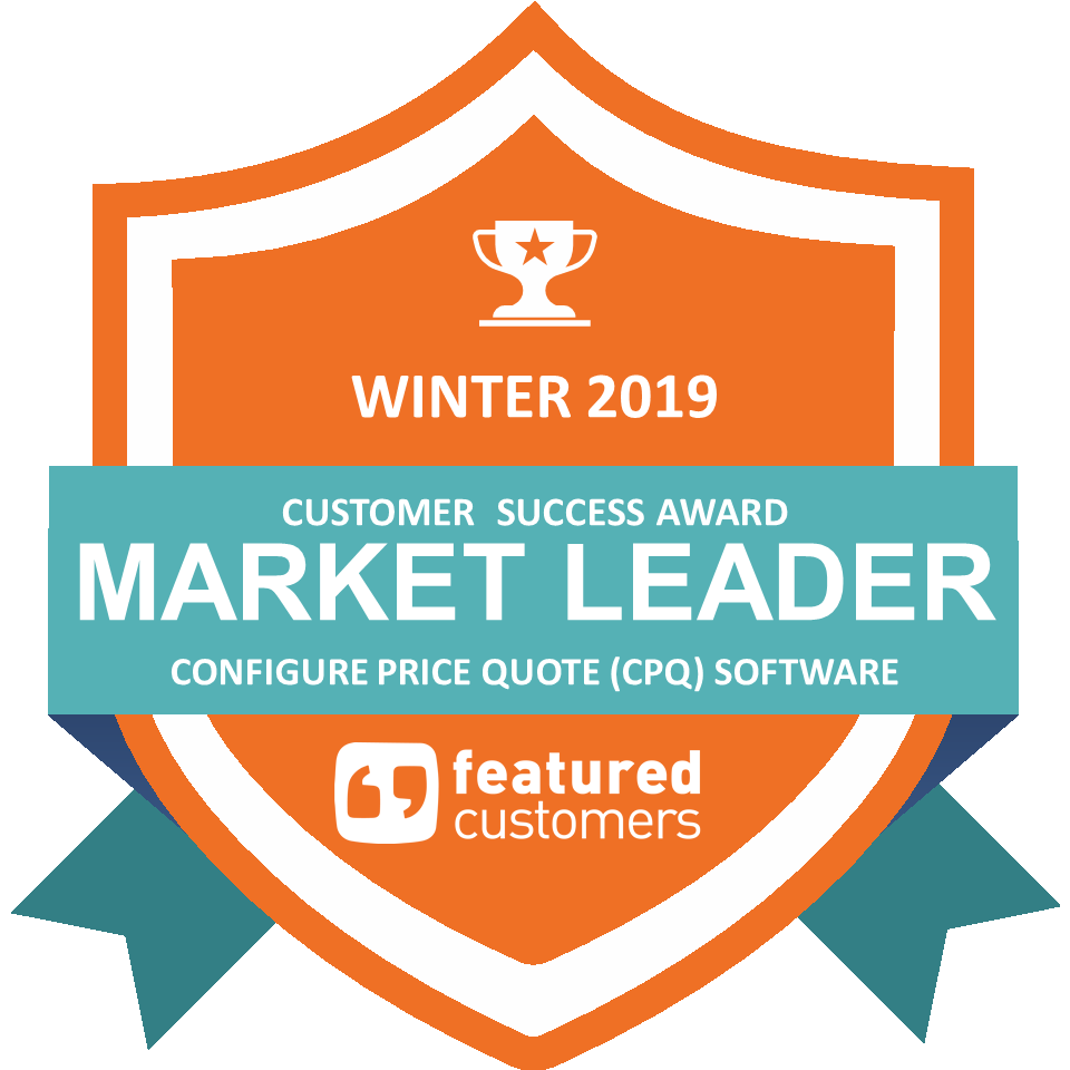Market Leader in the FeaturedCustomer's Winter 2019 Customer Success Report for the CPQ Software Category