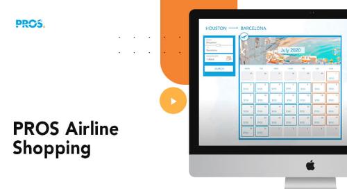 Airline e-Commerce - PROS Airline Shopping screenshot