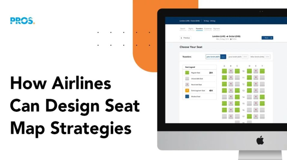Airline e_commerce - design seat map strategies with PROS Merchandising screenshot