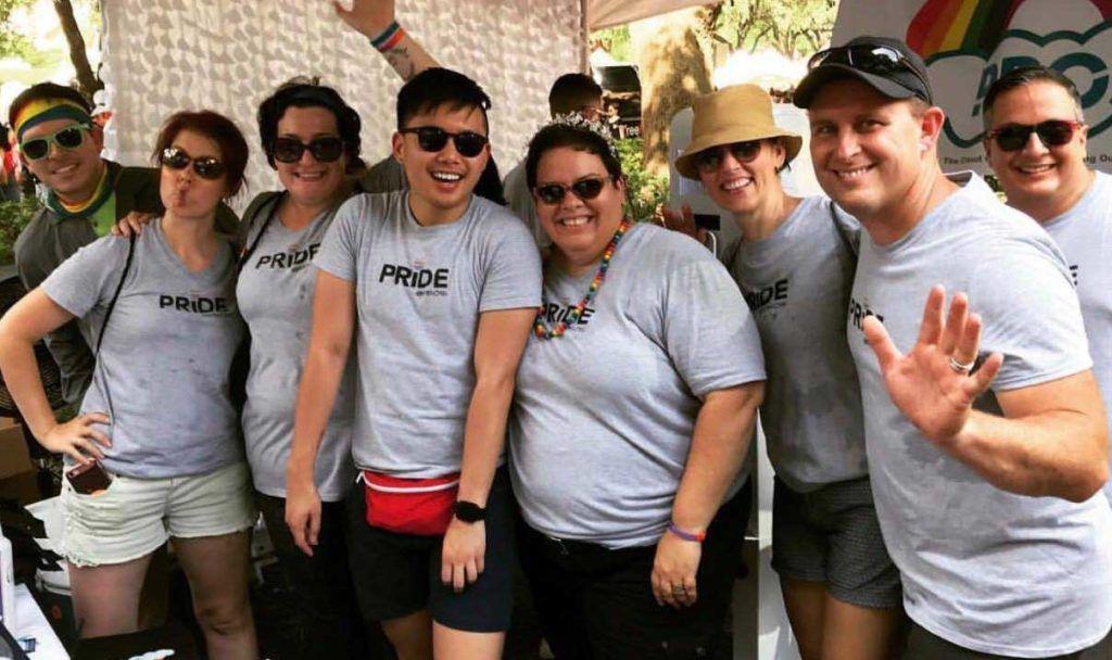 PROS Pride members team photo