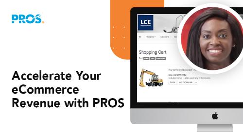 Screenshot of PROS eCommerce solution platform