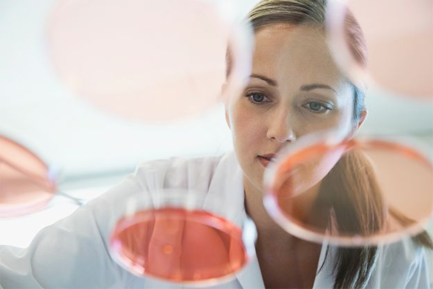 A woman working in the chemical industry