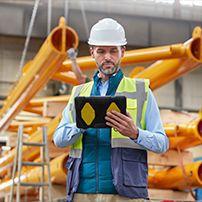 Engineer working on site