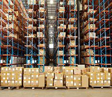Warehouse full with boxes