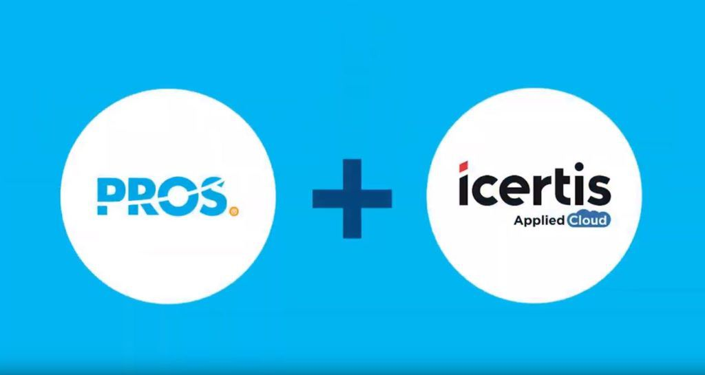 PROS and icertis logos