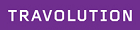 Travolution purple logo with white letters