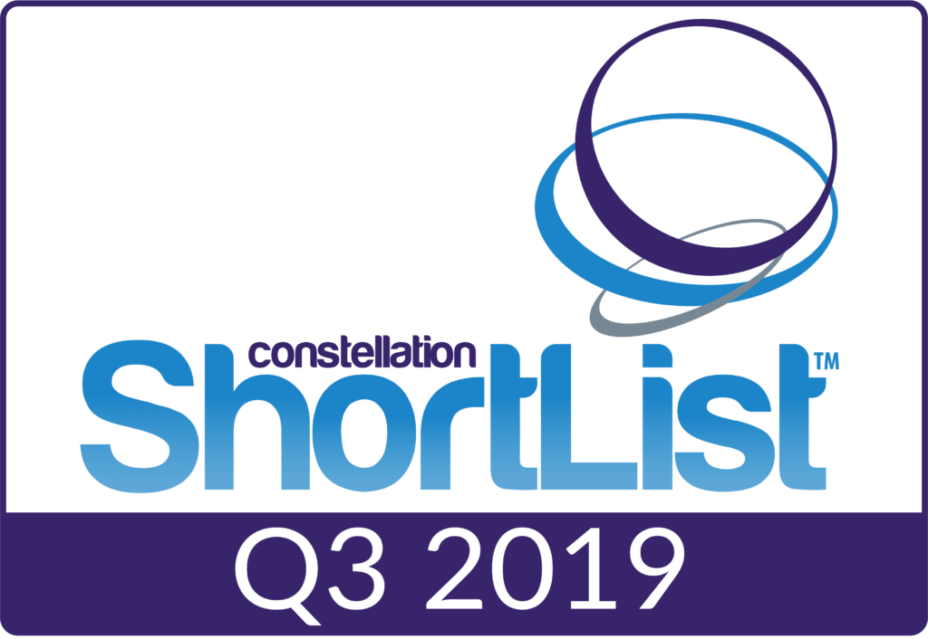 Constellation Research ShortList award badge Q3 2019
