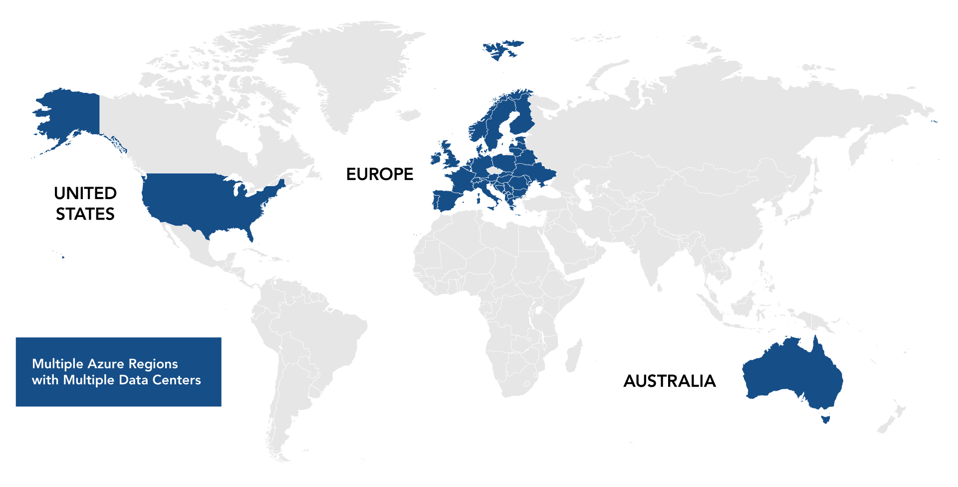 Secure Data Centers Worldwide map
