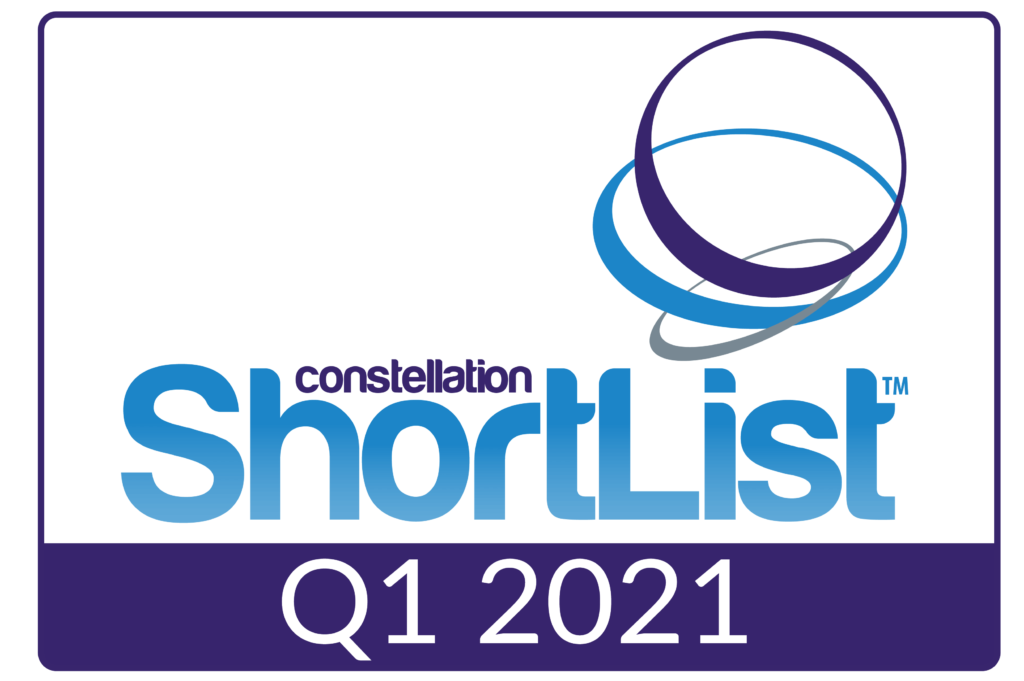 Constellation ShortList Q1, 2021 award badge