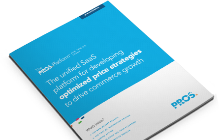 Cover image of PROS Platform for pricing teams solution brief