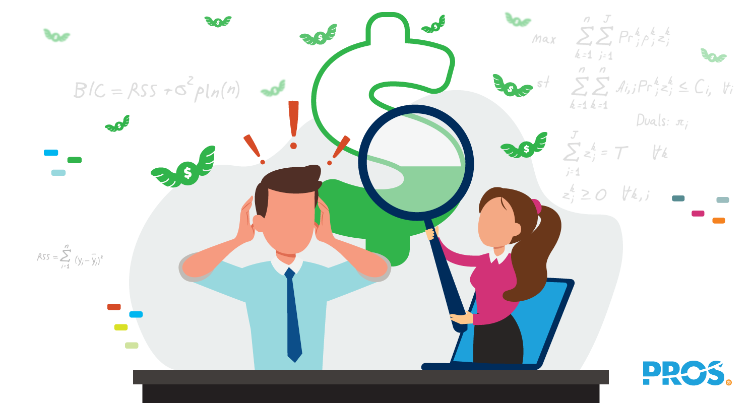 Vector illustration depicting a stressed out sales team