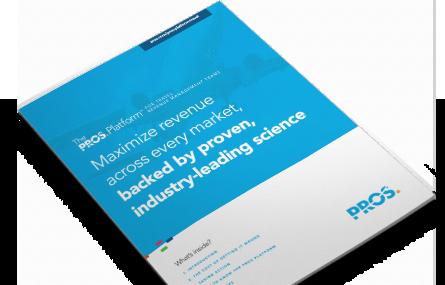PROS Platform for Travel - airlines revenue management solution brief cover