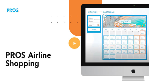 Thumbnail image with a screenshot of PROS Airline Shopping software