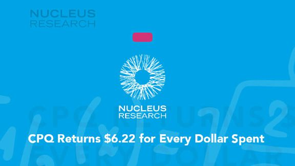 Nucleus Research case study thumbnail - PROS CPQ returns $6.22 for every dollar spent