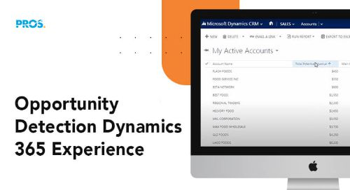 PROS Opportunity Detection software - Microsoft Dynamics 365 CRM screenshot