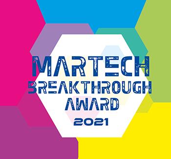 MarTech Breakthrough Award 2021 badge